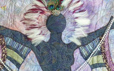 Black mermaids and goddesses tell empowering stories on Cookie Washington's quilts | Charleston SC | Charleston Magazine